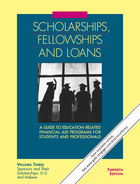 Scholarships – Fellowships and Loans (Gale)