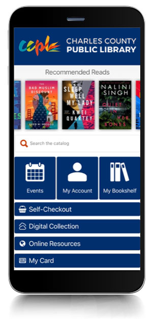 Image of Charles County Public Library's mobile app