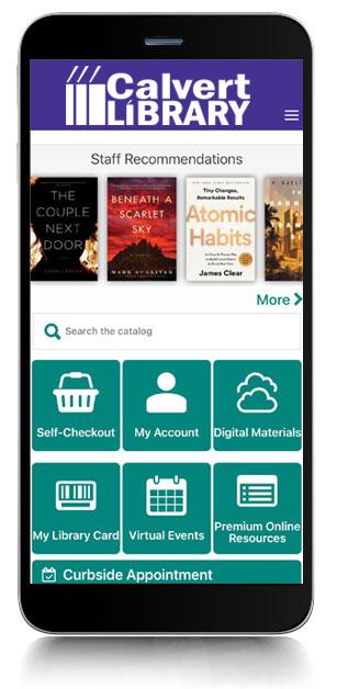 Image of Calvert Library's mobile app